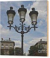 Paris Lamp Post Wood Print