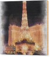 Paris Las Vegas Photo Art Wood Print