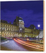 Paris Louvre Museum Wood Print