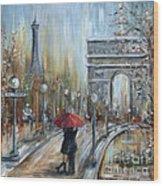 Paris Lovers II Wood Print
