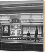 Paris Metro - Franklin Roosevelt Station Wood Print