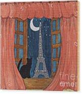 Paris Moonlight Wood Print
