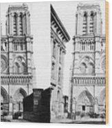 Paris Notre Dame, C1860 Wood Print