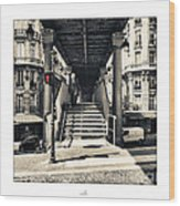 Paris - Old Man Wood Print