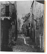 Paris Old Street, C1860 Wood Print