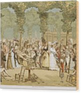 Paris Palais Royal, C1780 Wood Print