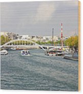 Paris River Cityscape Wood Print
