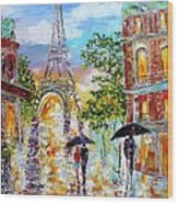 Paris Romance Wood Print