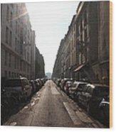 Paris Side Street Wood Print