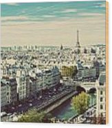 Paris Skyline France. Eiffel Tower Wood Print
