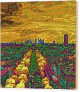 Paris Skyline Pop Art Wood Print