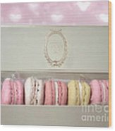 Paris Macarons Laduree Tea Shop Patisserie - Dreamy Laduree Box Of French Macarons - Paris Macarons Wood Print