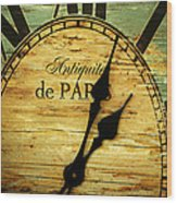 Paris Time Wood Print