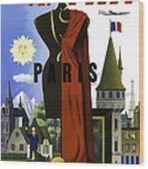 Paris Twa Wood Print