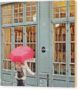 Paris Umbrella Wood Print