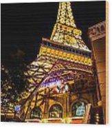Paris Under The Tower Wood Print