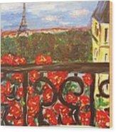 Paris View Wood Print