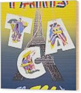 Paris Vintage Travel Poster Wood Print