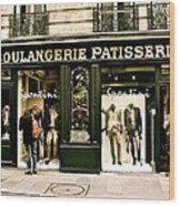 Paris Waiting Wood Print