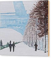 Paris Wintertime Wood Print by Kevin Croitz