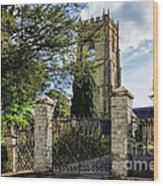 Parish Church Of St Candida And Holy Cross Wood Print