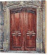 Parisian Door No. 8 Wood Print