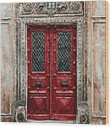 Parisian Door No.82 Wood Print