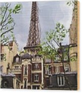 Parisian Icon Wood Print