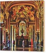 Parisian Opera House Wood Print