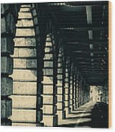 Parisian Rail Arches Wood Print