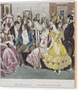 Parisian Salon, 1825 Wood Print
