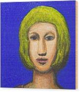 Parisienne With A Bob Haircut Wood Print by Kazuya Akimoto