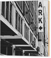 Park... Bw... Detroit Wood Print