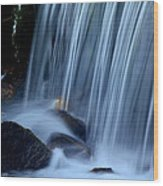 Park City Waterfall Wood Print