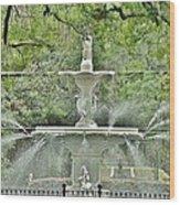 Forsyth Park Fountain - Savannah Georgia Wood Print
