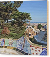 Park Guell In Barcelona Wood Print