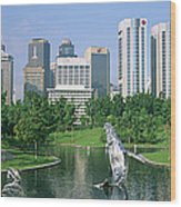Park In The City, Petronas Twin Towers Wood Print