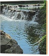 Park Waterfall Wood Print