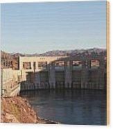Parker Canyon Dam Wood Print