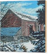 Parker Road Barn Wood Print