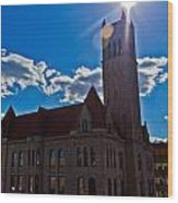 Parkersburg Courthouse Wood Print