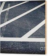 Parking Lot No. 30 Wood Print