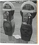 Parking Meters Wood Print