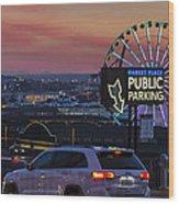 Parking Wheel Wood Print