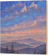 Parkway Ridges at Dusk Wood Print