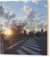 Parkway Sunset Wood Print