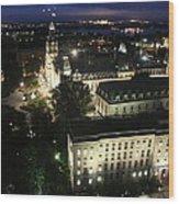 Parlament Quebec At Night  Wood Print