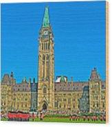 Parliament Building In Ottawa-on Wood Print