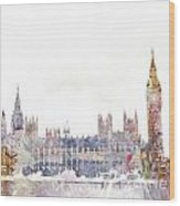 Parliament Color Splash Wood Print