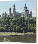 Parliament Hill - Ottawa Wood Print